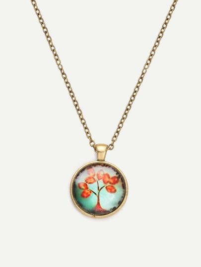 Vintage Gemstone Pendant Necklace
