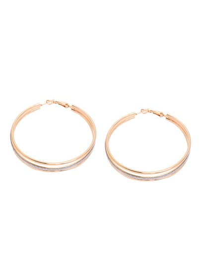 Golden Matte Multilayer Hoop Earrings