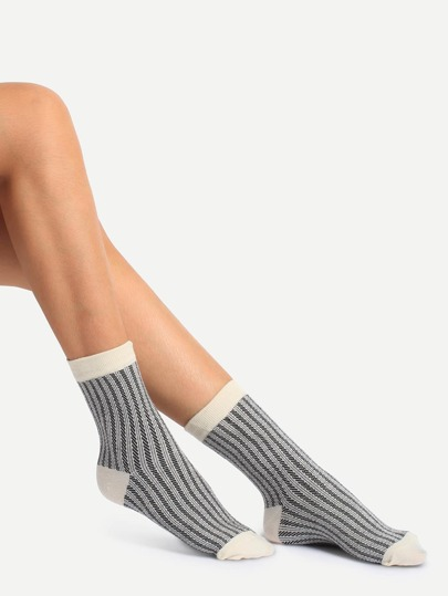 Stretchy Knitted Cotton Socks