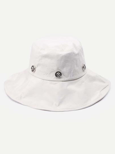 Beige Floral Liner Large Brimmed Hat