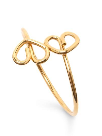 Golden Heart Shaped Ring