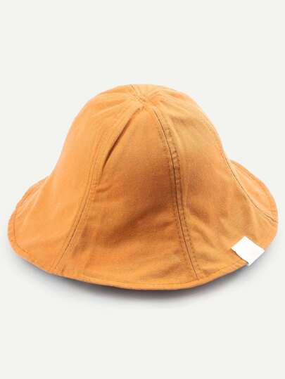 Camel Collapsible Cotton Bucket Hat