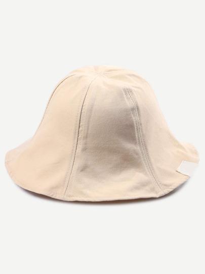 Beige Collapsible Cotton Bucket Hat