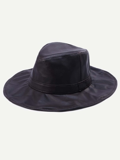 Coffee Vintage Wide Brim Fedora Hat