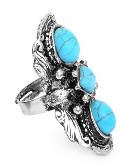 Antique Turquoise Big Ring