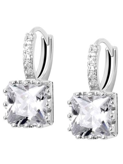 Square Zircon Earrings