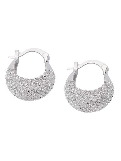 Silver Basket Shaped Earrings