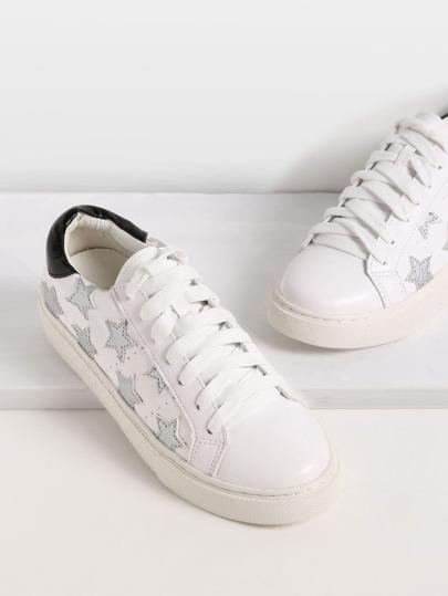 Zapatillas de deporte estrella puntera redonda