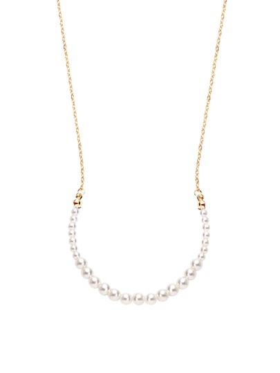 Golden Faux Pearl Necklace