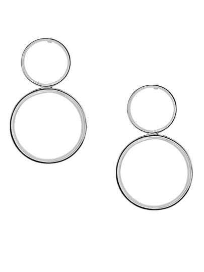 Silver Minimalist Figure 8 Drop Earrings
