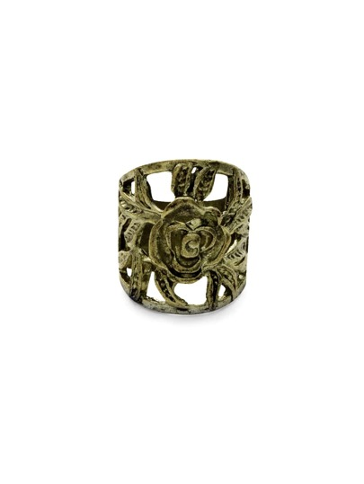 Bronze Retro Rose Ring