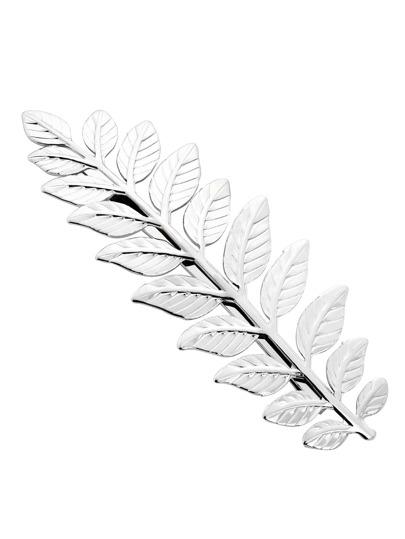 Silver Leaf Shaped Hair Clip