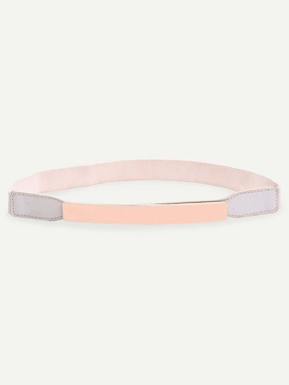 Metal Bar Stretch Belt