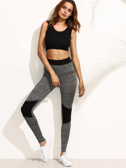 Leggings de sport amincissant - gris