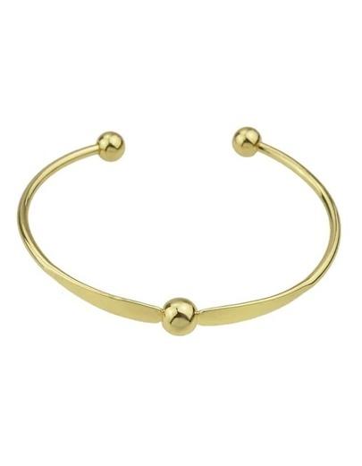 Gold Simple Cuff Bracelet Bangle