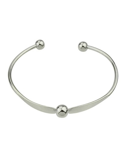 Silver Simple Cuff Bracelet Bangle