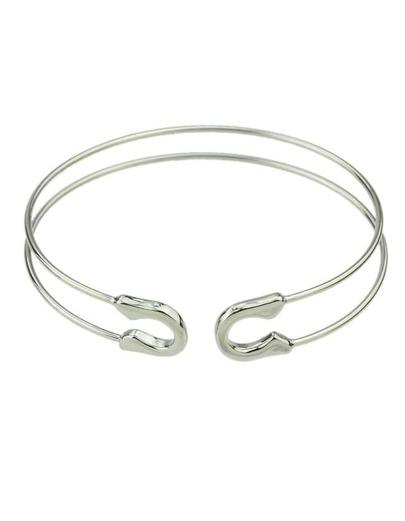 Silver Adjustable Cuff Bracelet