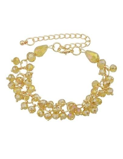 Adjustable Champagne Beads Bracelet