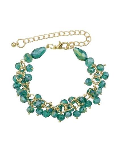 Adjustable Green Beads Bracelet