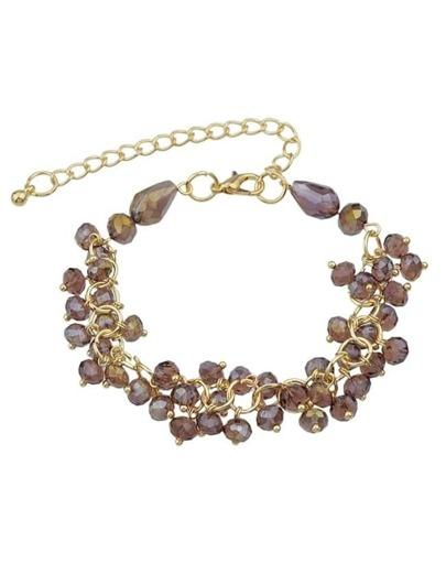 Adjustable Purple Beads Bracelet