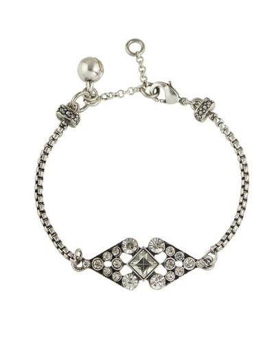 Rhinestone Chain Link Bracelet