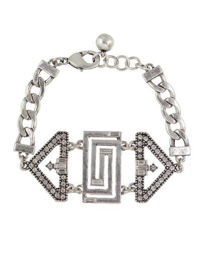 Rhinestone Wide Chain Bracelet
