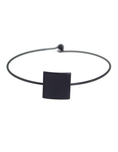 Black Thin Simple Design Bracelet