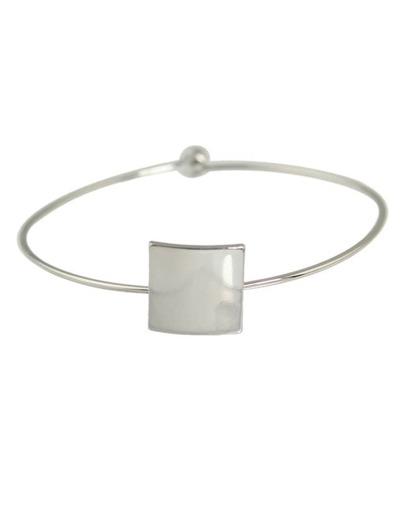 Silver Thin Simple Design Bracelet