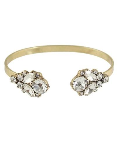 Gold Plated Rhinestone Cuff Bracelet