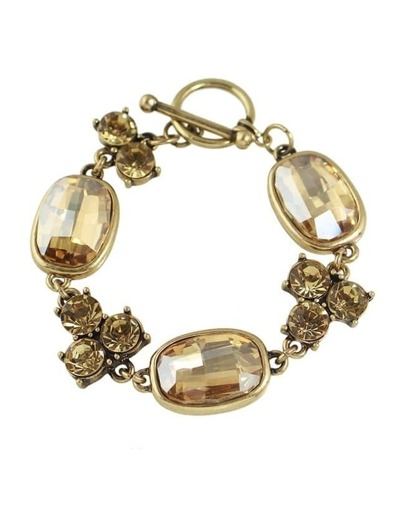 Big Rhinestone Charms Bracelet