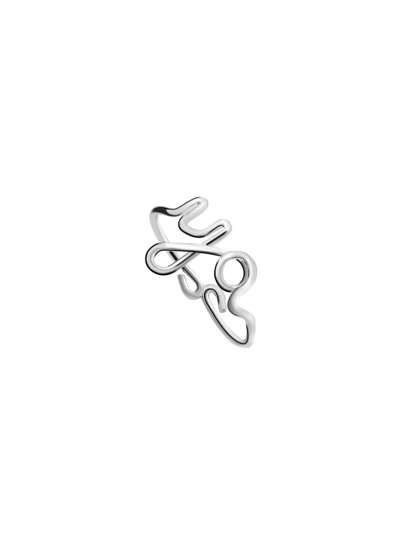 Silver You Letter Ring
