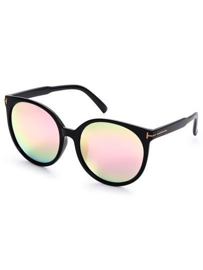 Pink Lenses Round Frame Sunglasses