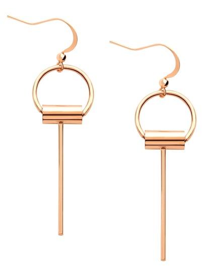 Simple Key Shaped Metal Earrings