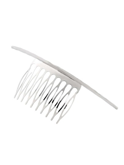 Silver Crescent Hair Comb