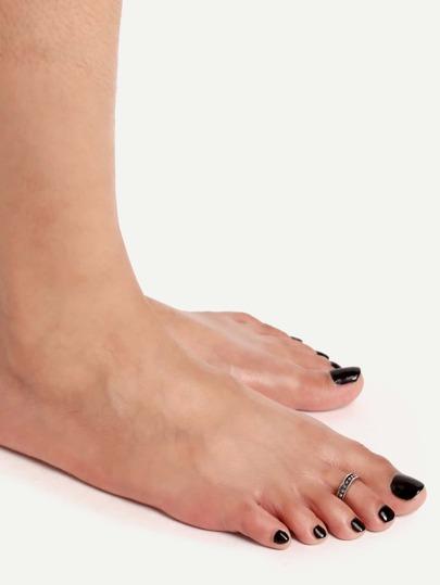 Silver Beaded Toe Ring