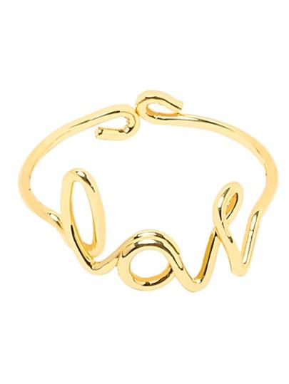 Golden Love Letter Ring