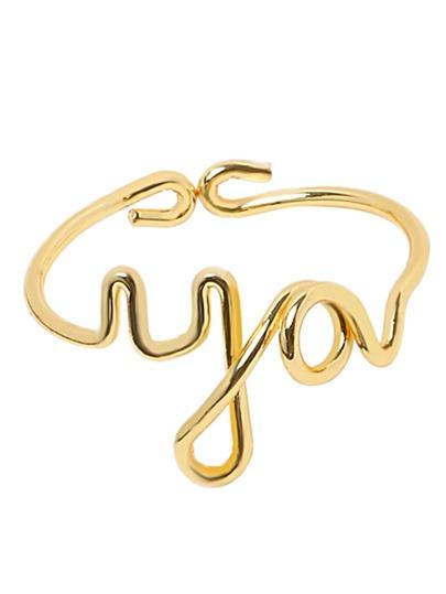 Ring Buchstaben Form - gold
