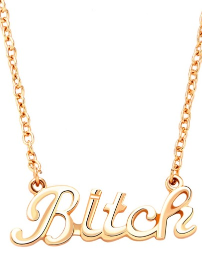 Golden Bitch Letter Chain
