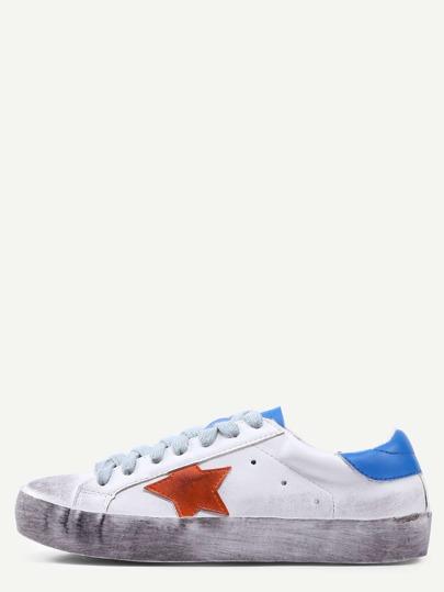 Zapatillas de deporte con estrella cordón