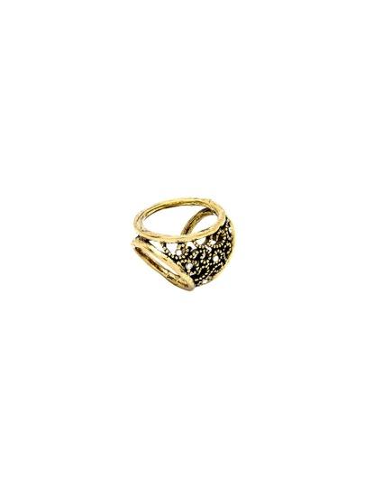 Geätzte Schal Ring Ausschnitt-antike bronze