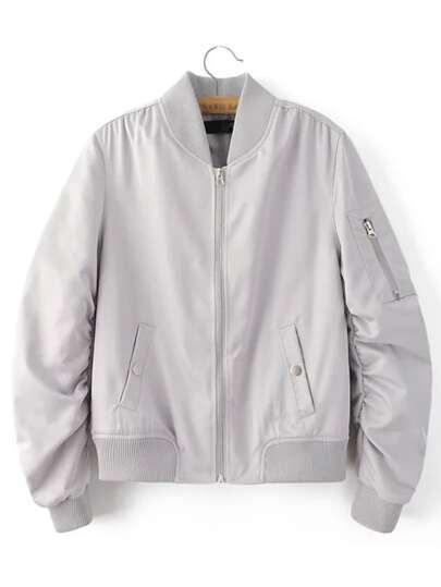 Серая модная куртка