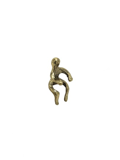 Bronze Human Figure Ear Cuff 1PC