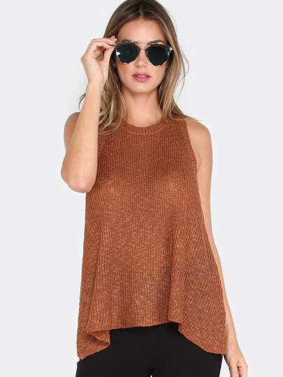 Flowy Knit Tank Top RUST