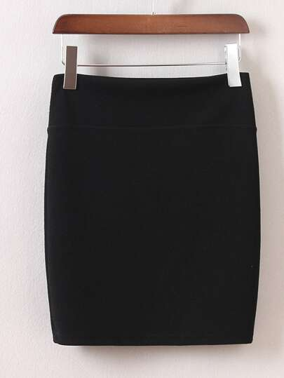 Black Bodycon Mini Skirt