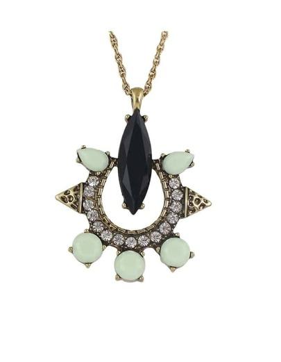 Gemstone Long Pendant Necklace