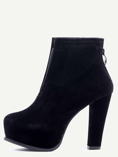 Black Suede High Heel Boots