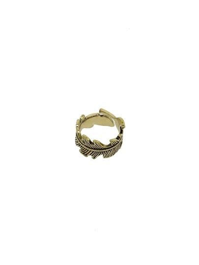 Dark Blonde Vintage Feather Ring