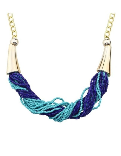 Blue Beads Women Necklace