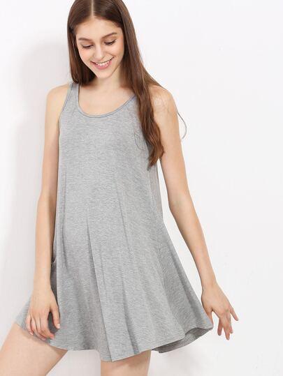 Grey Swing Tank Dress