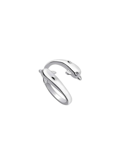 Silver Dolphin Wrap Ring